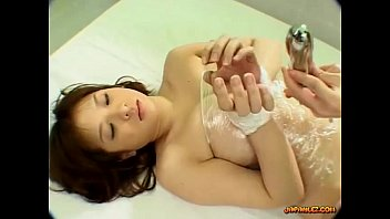 Busty Asian Girl Bondaged Getting Her Hairy Pussy Stimulated And Fucked With Toy