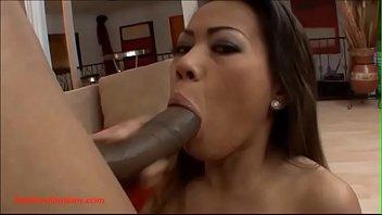 Blacksruinasians.com tiny asian slut gets huge big long black cock huge facial
