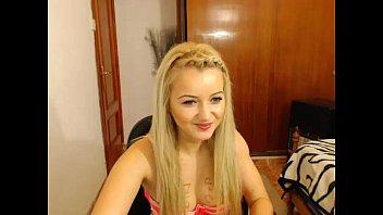 silver-blonde nubile strokes on web cam.