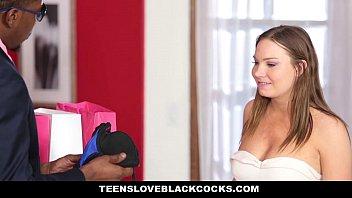 teensloveblackcocks - hefty ebony manhood manager pokes his.