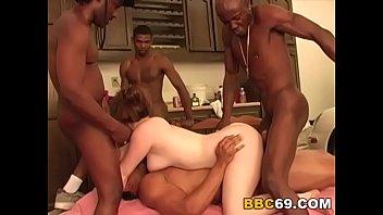 Interracial Gangbang With Busty Jennifer