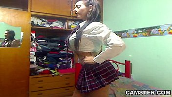 good-sized udders amp_ caboose mexican student striptease out.
