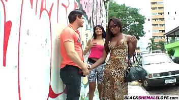 tighty man fellates a black t-girls gigantic yam-sized.