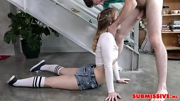 Young Cute Sorority-Girl Becomes His Slave