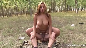 ample-titted damsel pleasing with her large.