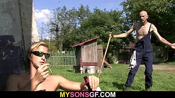 aged daddy playing his son039_s gf.