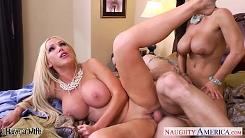 steamy wives lisa ann and nikki benz sharing.