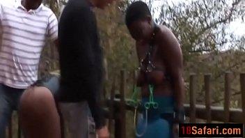 buxom african bi-otches bonded and manhandled.