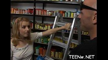 nasty teenage has her raw cock-wringing love cavern.