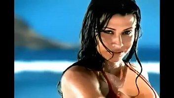 woman untrusses bathing suit bottomdark orange