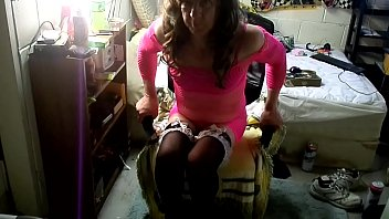 pink dress black   nylons  princess heels.MP4