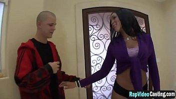 Ebony beautiful babe casting blowjob fuck interracial3