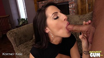 Sexy Kortney Kane swallows cum