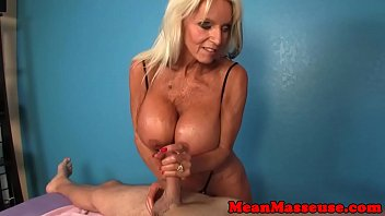 rubbing mature abases her fresh customer