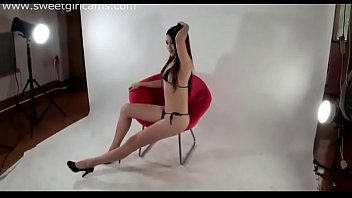 China Model on webcam